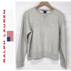 Ralph Lauren Sport Crop Gray Sweatshirt Large